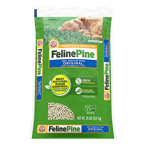 ARM & HAMMER Cat Litter Non-Clumping Feline Pine Original Bag - 20 Lb