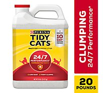 Tidy Cats Cat Litter 24/7 Performance Scoop for Multiple Cats - 20 Lb