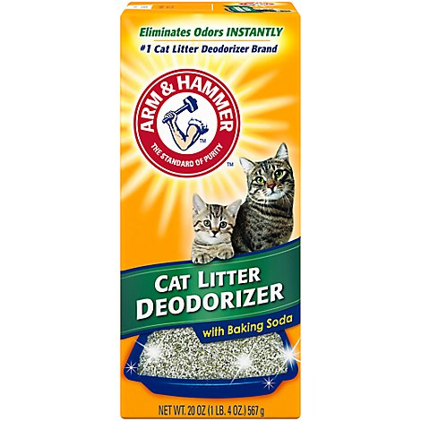 ARM & HAMMER Cat Litter Deodorizer With Activated Baking Soda Box - 20 Oz
