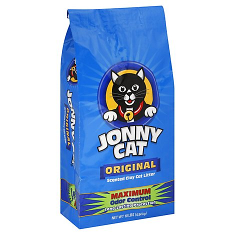 Jonny Cat Cat Litter Original Scented Clay Maximum Odor Control Antibacterial Formula Bag - 10 Lb