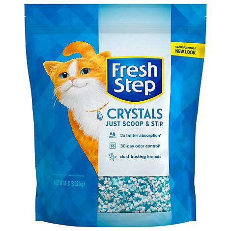 Fresh Step Cat Litter Premium Crystals Bag - 8 Lb