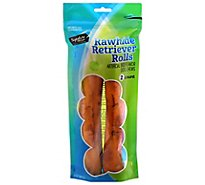 Signature Pet Care Dog Treat Rawhide Retriever Rolls Beef Basted 10 Inch - 2 Count