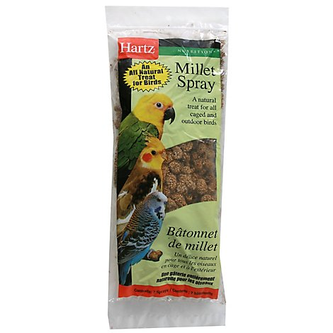 Hartz Millet Spray For All Birds Pouch - 7 Count