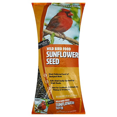Signature Pet Care Wild Bird Food Sunflower Seeds - 5 Lb