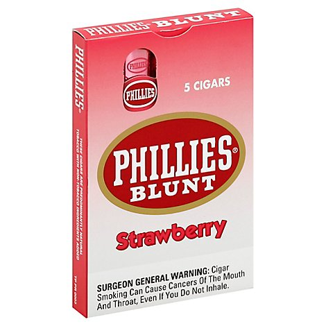 Phillies Strawberry Blunt Cigars - 5 Count