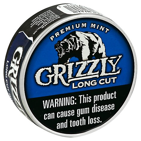 Grizzly Long Cut Mint Smokeless Tobacco - 1.2 Oz