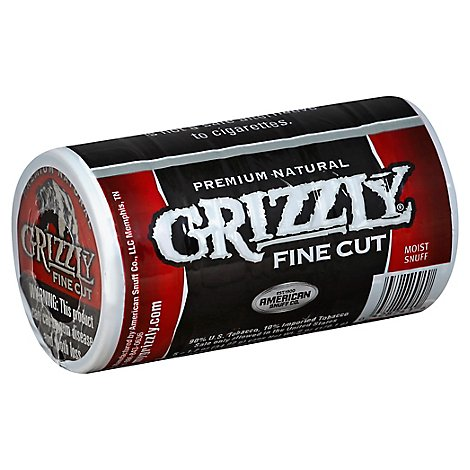 Grizzly Fine Cut Natural Smokeless Tobacco - 1.2 Oz
