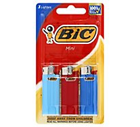 Bic Lighter Mini With Child Guard - 3 Count