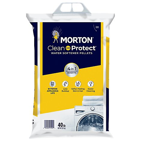 Morton Water Softening Pellets Patented System Saver II - 40 Lb