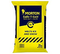 Morton Safe-T-Salt Rock Salt - 25 Lb