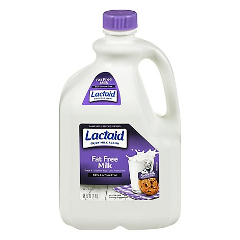 Lactaid Milk Lactose Free Fat Free - 96 Fl. Oz.