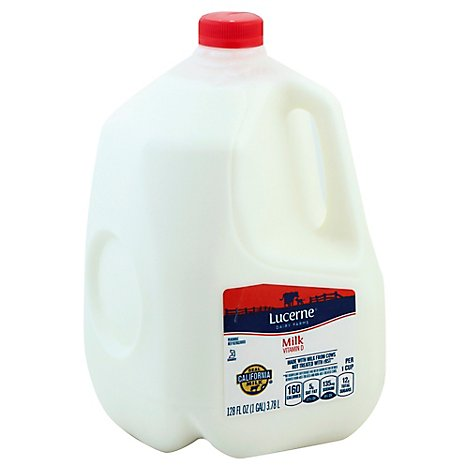 Lucerne Milk Whole 1 Gallon - 128 Fl. Oz.