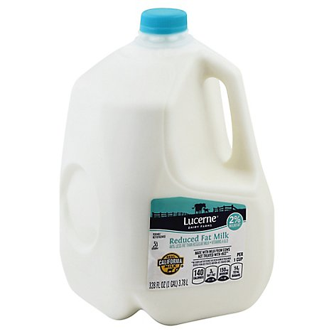 Lucerne Milk Reduced Fat 2% Milkfat 1 Gallon - 128 Fl. Oz.