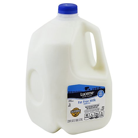 Lucerne Milk Fat Free 1 Gallon - 128 Fl. Oz.