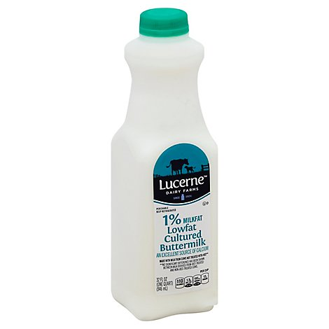 Lucerne Buttermilk Cultured Reduced Fat 1.5% - Quart