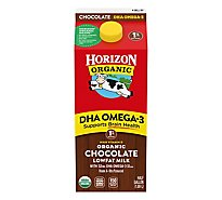 Horizon Organic Milk Lowfat Chocolate With DHA Omega-3 Vitamin A & D - Half Gallon