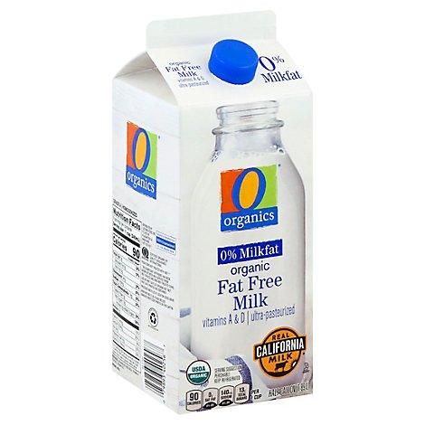O Organics Organic Fat Free Milk - Half Gallon