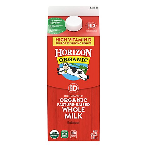 Horizon Organic Milk Vitamin D Whole Half Gallon - 64 Fl. Oz.