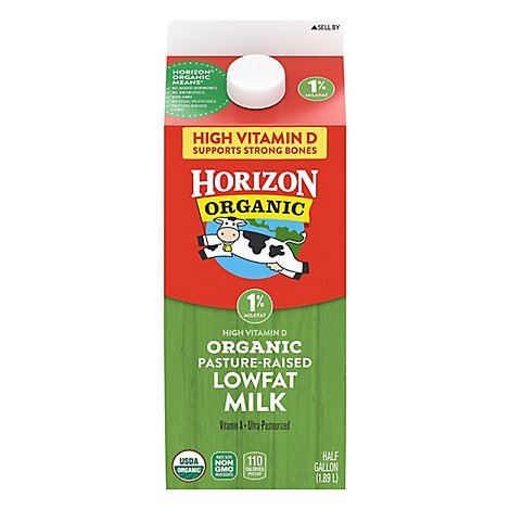 Horizon Organic Milk Lowfat 1% - Half Gallon