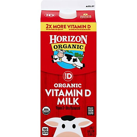 Horizon Organic Whole Milk - Half Gallon