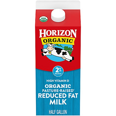 Horizon Organic Milk Reduced Fat 2% - Half Gallon