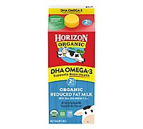 Horizon Organic Milk Reduced Fat 2% Plus DHA - Half Gallon
