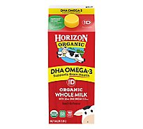 Horizon Organic Whole Milk With DHA Omega-3 & Vitamin D - Half Gallon