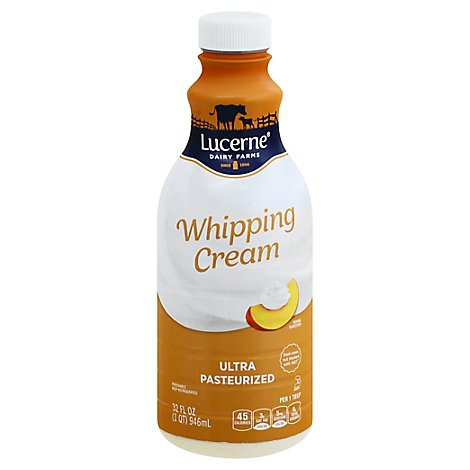 Lucerne Whipping Cream Pasteurized - 32 Fl. Oz.