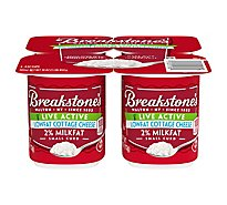 Breakstones Cottage Cheese Snack Size Small Curd Live Active Lowfat 2% Milkfat - 4-4 Oz