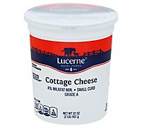 Lucerne Cottage Cheese 4% Small Curd - 32 Oz