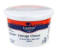 Lucerne Cheese Cottage Small Curd 4% Milkfat Min. - 16 Oz