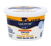 Lucerne Cheese Cottage Small Curd Lowfat 1% Milkfat - 16 Oz