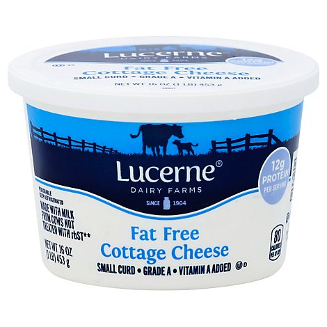 Lucerne Cheese Cottage Small Curd Fat Free - 16 Oz
