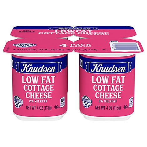 Knudsen Cottage Cheese On The Go Reduced Fat - 4-4 Oz