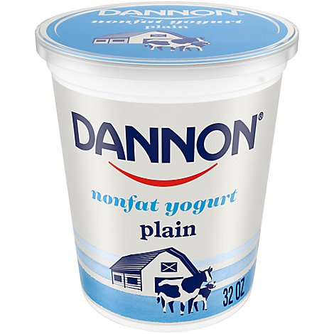 Dannon Yogurt Nonfat Plain - 32 Oz