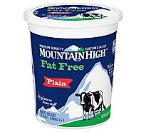 Mountain High Fat Free Plain Yogurt - 32 Oz