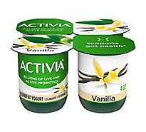 Activia Probiotic Yogurt Lowfat With Bifidus Vanilla - 4-4 Oz