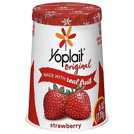 Yoplait Original Yogurt Low Fat Strawberry - 6 Oz