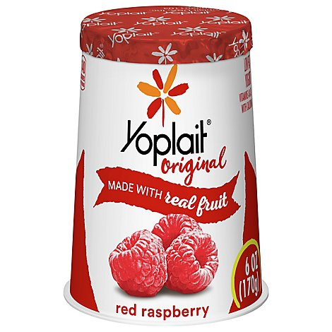 Yoplait Original Yogurt Low Fat Red Raspberry - 6 Oz
