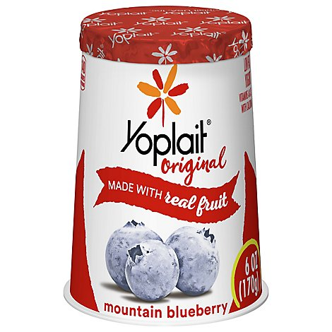 Yoplait Original Yogurt Low Fat Mountain Blueberry - 6 Oz