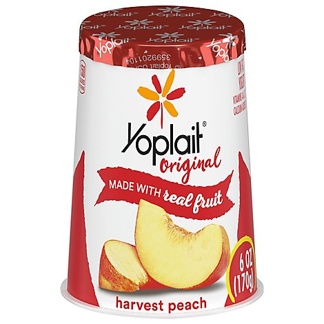 Yoplait Original Yogurt Low Fat Harvest Peach - 6 Oz