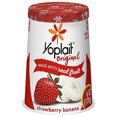 Yoplait Original Yogurt Low Fat Strawberry Banana - 6 Oz