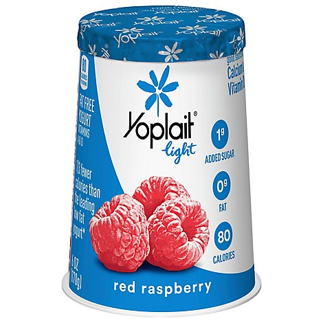 Yoplait Light Yogurt Fat Free Red Raspberry - 6 Oz