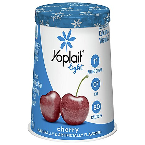 Yoplait Light Yogurt Fat Free Very Cherry - 6 Oz