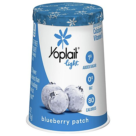 Yoplait Light Yogurt Fat Free Blueberry Patch - 6 Oz