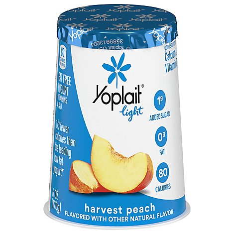Yoplait Light Yogurt Fat Free Harvest Peach - 6 Oz