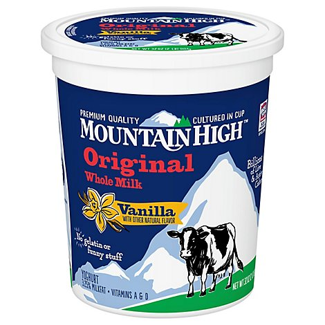 Mountain High Yogurt Vanilla - 32 Oz