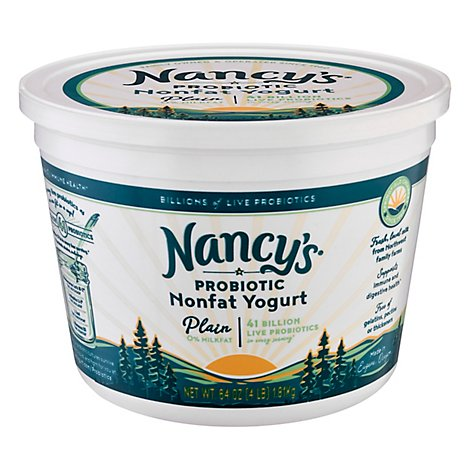 Nancys Yogurt Non FatPlain - 64 Oz