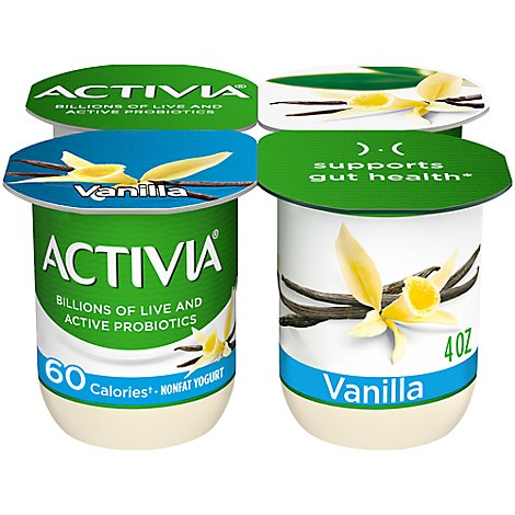 Activia Probiotic Yogurt Nonfat 60 Calories Peach - 4-4 Oz