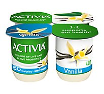 Activia Probiotic Yogurt Light With Bifidus Vanilla - 4-4 Oz